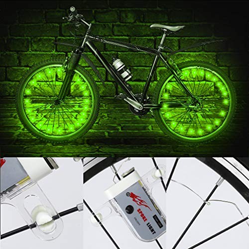 TINANA LED Bike Wheel Lights Ultra Bright Waterproof Bicycle Spoke Lights Cycling Decoration Safety Warning Tire Strip Light for K   ids Adults Night Riding -1Pack (Multi-Color)