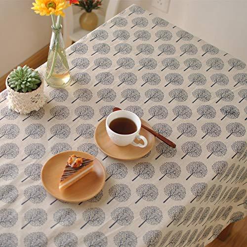 Creek Ywh Tafelkleed, tafelloper, partytafelkleed, minimalistische kunst, in Japanse stijl, tafelkleed van verse katoen en linnen, koffietafelkleed voor het bedrukken van tuinplanten, Tisc