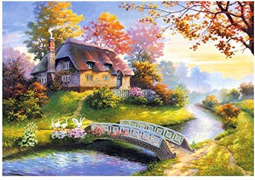 Houten puzzel 1000 stukjes stukjes for Volwassen kinderen educatief Stress Reliever -Brook aan de deur-Modern Home Decor Art Uniek Cadeau 50X75CM