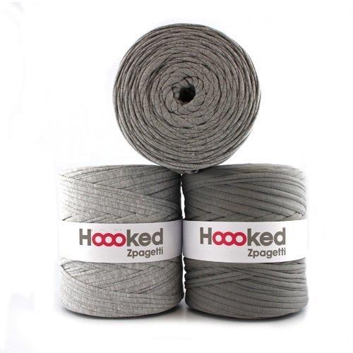 Hoooked Zpagetti Textilgarn 120 m Rolle alle Farben zur Wahl (hellgrau)