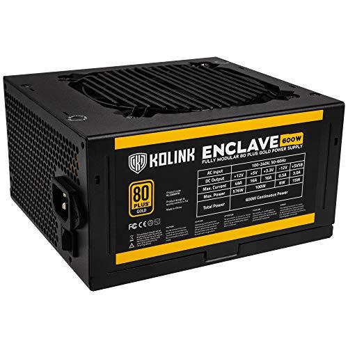 Kolink Enclave Alimentatore PC - 80 Plus Gold - Totalmente Modulare - 600 Watt