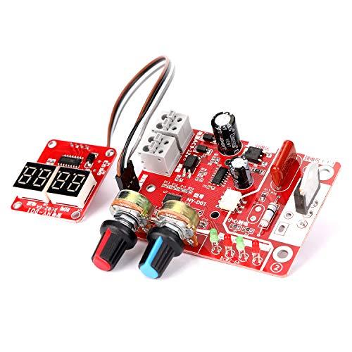 KKmoon 100A Scheda di Controllo della Saldatrice a Punti, Funzione di Controllo del Tempo e della Corrente con Display digitale