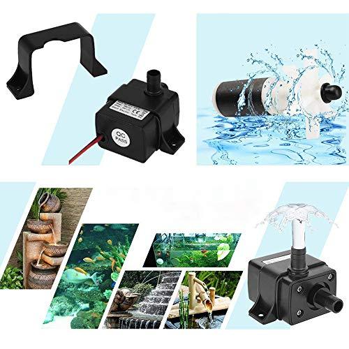 Wankd Brushless Took Mini waterpomp DC 12 V ampfibiepomp 800 L/H 5 Mt voor tuinvijver aquarium zonne-energie zwembad