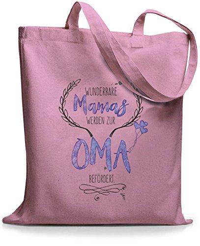 StyloBags Jutebeutel/Tasche Wunderbare Mamas werden zur Oma befördert, Farbe:rosa