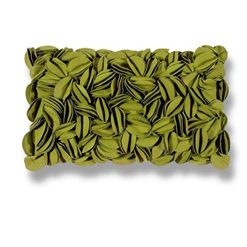 Pad - Kissenhülle - Kissenbezug - Zierkisssen - Dorothy - Applikationen - Green - / grün - 30 x 50 cm