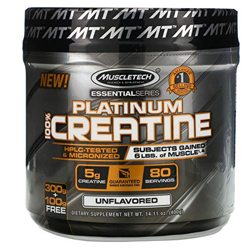 Muscletech Essential Series Platinum 100% Creatine Unflavored 1411 oz 400 g