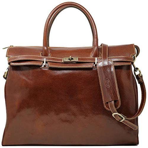 Floto Milano Italian Leather Shoulder Tote Bag Women's Briefcase Carryon