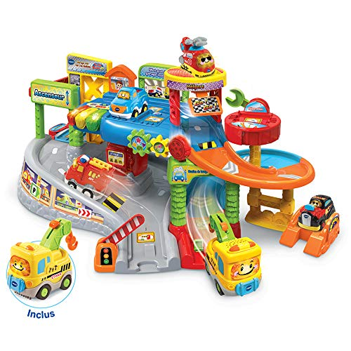 VTECH- Premier Garage INTERACTIF TUT BOLIDES Univers, 80-512775, Multicolore - Version FR