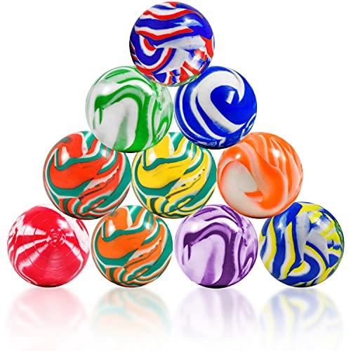 L+H Flummis XXL   10 sztuk   średnica 45 mm   bardzo duża   podwójna piłka gumowa piłka do skakania   idealna jako upominek lub upominek na urodziny dziecka dla dzieci, chłopców i dziewczynek