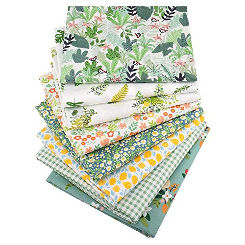 8 Stück 40 cm x 50 cm 100% Baumwolle Stoff zum Quilten Patchwork Kissen Nähen Material Scrapbook Puppentuch