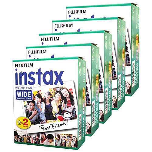 Fujifilm Instax Wide Instant Films for Fuji Instax Wide 210 200 100 300, Pack of 5