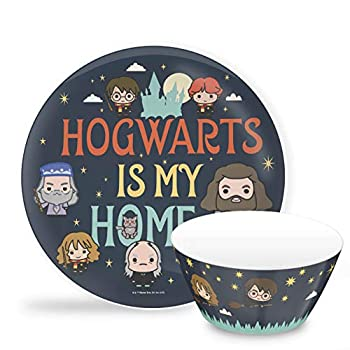 Zak Designs Harry Potter Hogwarts is my Home Dinnerware Set Includes Plate and Bowl Made of Durable Melamine and Perfect for Kids  2-Piece Set BPA-Free