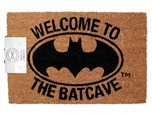 Versa RD-RS461002 Alfombra para Puerta de Entrada, Batman-Welcome to The Batcave, Bonote, Brown, One Size