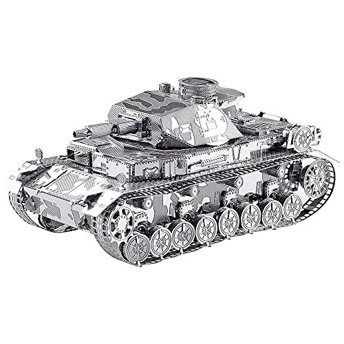 Piececool 3D Metal Model Kit for Adults - German IV Tank DIY 3D Metal Jigsaw Puzzle Ideal Christmas and New Year Gift for Adults…