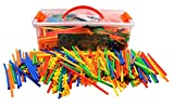 Playlearn LARGE 800 Piece Straws Builders Construction Building Toy - Giant Pack with Special...