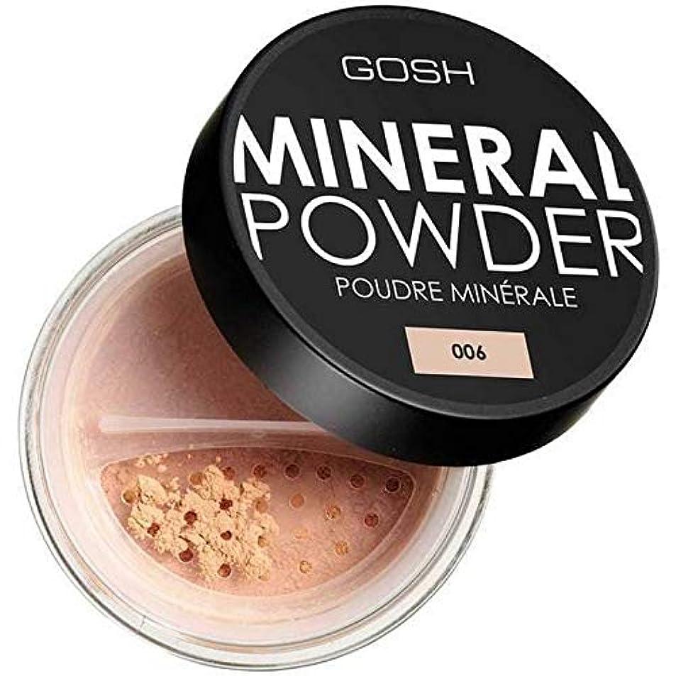 既に妖精キャンベラ[GOSH ] おやっミネラルフルカバレッジ基礎粉末蜂蜜006 - GOSH Mineral Full Coverage Foundation Powder Honey 006 [並行輸入品]