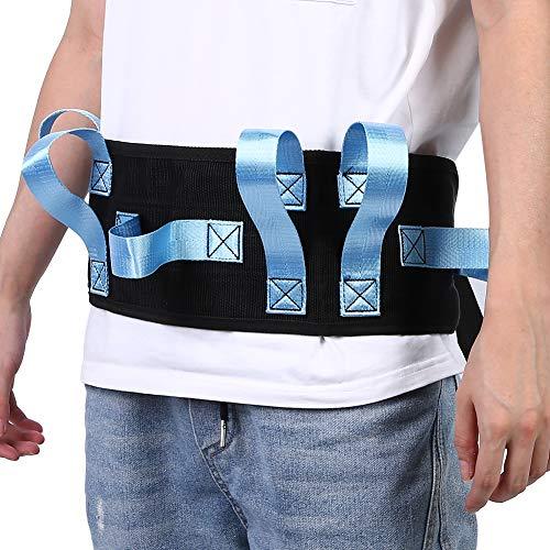 Lv. life Cinturón de Marcha con 6 Asas y Hebilla de liberación rápida Transferencia de Paciente Anciano Ayuda de deambulación Ambulante Ayuda de Movilidad(Azul) 🔥