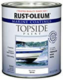 Ideal for use on fiberglass, wood or metal surfaces above the waterline Oil-based formula is flexible and applies easily with excellent leveling Dries to the touch in as little as 1 to 2 hours and covers up to 100 sq ft Durable coating resists abrasi...