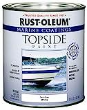 Rust-Oleum 207000 Marine Coatings Topside Paint, Quart, Semi-Gloss White