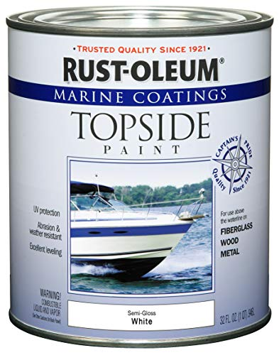 Rust-Oleum 207000 Marine Coatings Topside Paint, Quart,...
