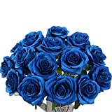 AMYHOMIE Artificial Flowers Silk Roses Bouquet Home Wedding Decoration Pack of 15