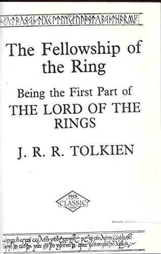 The Fellowship of the Ring (Isis Clear Type Classic) (Vol 1)