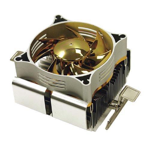 Silverstone NT04 - Ventilador de PC (Procesador, Enfriador, Socket 754, Socket 939, Socket 940, 25 dB, Oro, Plata, Aluminio)