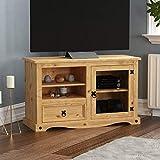 Amazon Brand - Movian Corona Entertainment Cabinet, TV Stand, Solid Pine Wood