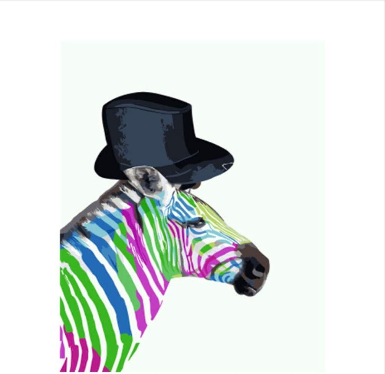 CZYYOU Bild Pferd Pferd Pferd DIY Malerei by Zahlen Bunte Bild Wohnkultur Für Wohnzimmer Hand Einzigartige Geschenke 40x50cm-Mit Rahmen B07PNHLHQW | Sehr gute Farbe  212ade