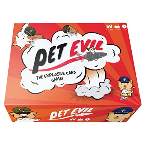 Pet Evil - The Explosive Card Game - Fun Family & Adult Board Game - Best Card Deck Games for Teens, Young Adults, and Families