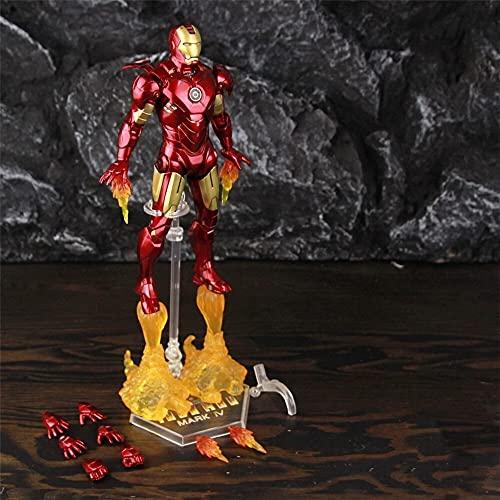 "Figura de acción Nuevo 2020 Classic Hierle Man Mk4 Mark IV 7""Figura de acción de película Ironman Mark 4 Tony Stark Legends Toys Doll Figura Juguete (Color : MK4 B - Loose)"
