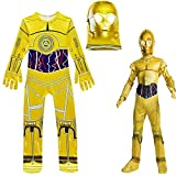 BCOGG Halloween Star Wars Kostüme Kinder Jungen Golden Robot C-3PO Cosplay Overall Maske Purim...