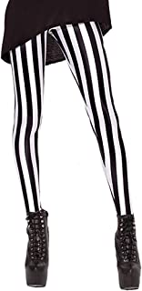 Women's High Waist Pure Color Digital Printted Ankle Elastic Tights Legging