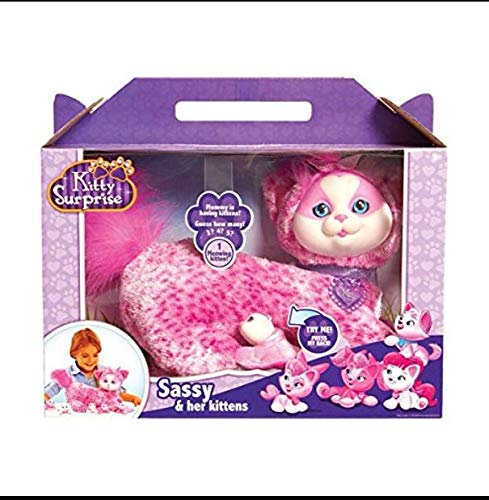 Kitty Surprise Plush Sassy, Stuffed Cat with Kittens Plush Toys