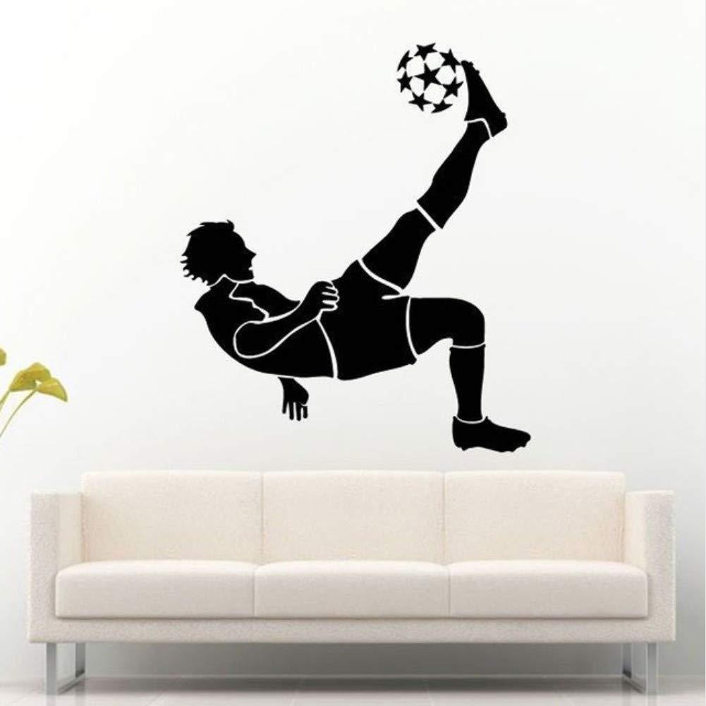 mmwin Jugador De Fútbol Futbolista Jugando A La Pelota para Patear Pegatinas De Pared para Niños Dormitorio Hobby Arte Decoración Vinilo Hogar Calcomanías 57 * 67 Cm: Amazon.es: Hogar