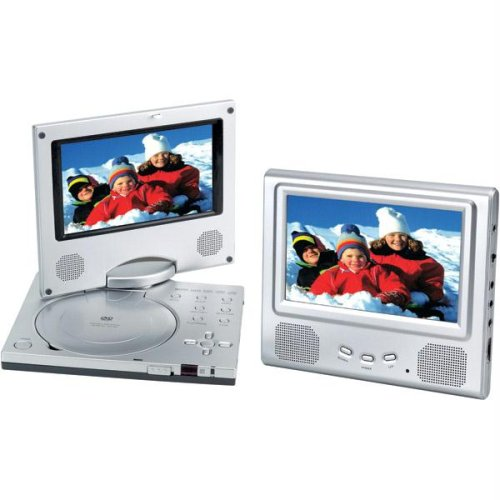 Read About 7 Spectroniq PDV-768 Widescreen Portable DVD Player w/Additional LCD Screen (Silver)