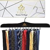 MATAYA Krawattenhalter - Krawattenbügel aus Holz - Premium Kleiderschrank Kleiderbügel Aufbewahrung für 24 Krawatten