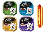 Cesar Classic Dog Food 4 Flavor 8 Can with Toy Bundle: (2) Lamb, (2) Chicken Veal, (2) Top Sirloin, (2) Grilled Chicken, (1) Toy (3.5 Ounces)