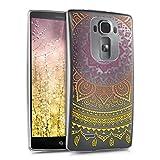 kwmobile LG G Flex 2 Hülle - Handyhülle für LG G Flex 2 - Handy Case in Indische Sonne Design Gelb Pink Transparent