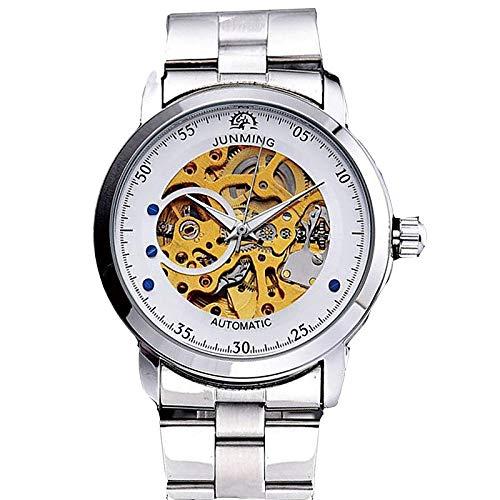 Hombre Reloj de Vestir Reloj Esqueleto Automático Automático Clásico Cronógrafo Analógico Dorado/Acero Inoxidable/Acero Inoxidable/Japonés/Japonés