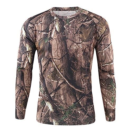 Nuevos hombres Camisetas al aire libre de secado rápido estilo militar camuflaje manga larga Tops Camisetas Tee
