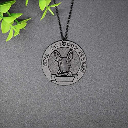 Collana con medaglia Bull Terrier vintage nuova Collana con ciondolo Bull Terrier in metallo stile retrò Gioielli da donna Gioielli per cani