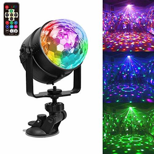 USB Wiederaufladbar Partylicht LED Discokugel Partybeleuchtung, Stimmungslicht 7 Modi Disco Glühbirne sprachsteuerte Party Deko Licht mit Fernbedienung Weihnachten Geschenk