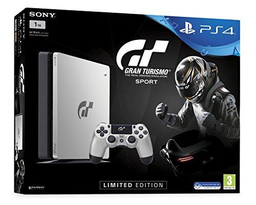 Sony PS4 Slim 1TB + Gran Turismo Sport Limited edition Argento 1000 GB Wi-Fi