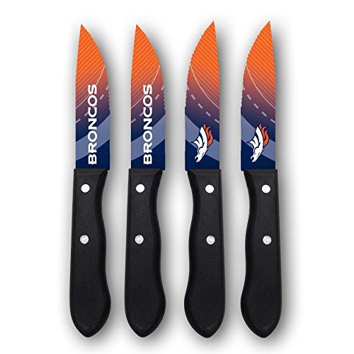 Sports Vault NFL Denver Broncos Steak Knive Set - SKNFL10