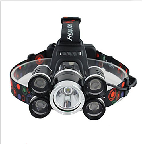 Linternas de Cabeza Correa para Luz de Casco luces de seguridad LED 3000 Lumens Modo Cree XM-L T6 18650.0 Control de Ángulo Super Ligero