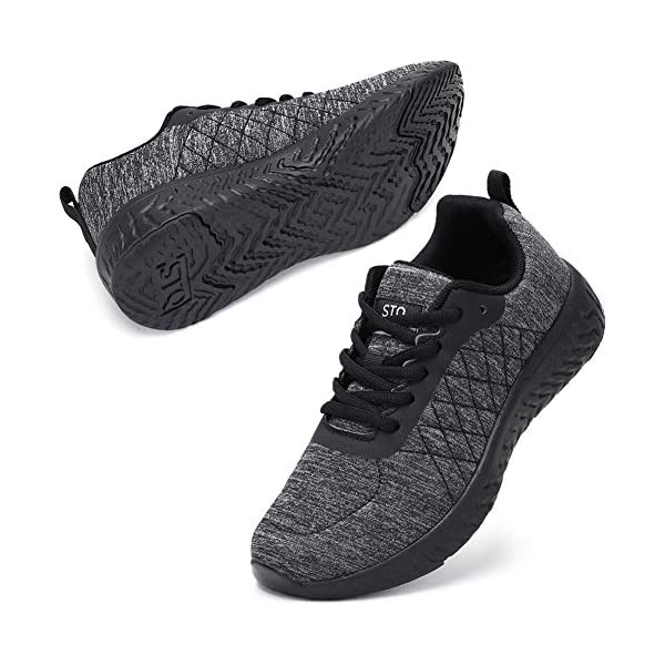STQ Walking Shoes for Women Lace Up Lightweight Tennis Shoes