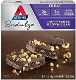 Atkins Endulge Treat, Nutty Fudge Brownie Bar, Keto Friendly, 5 Count - 5 Pack