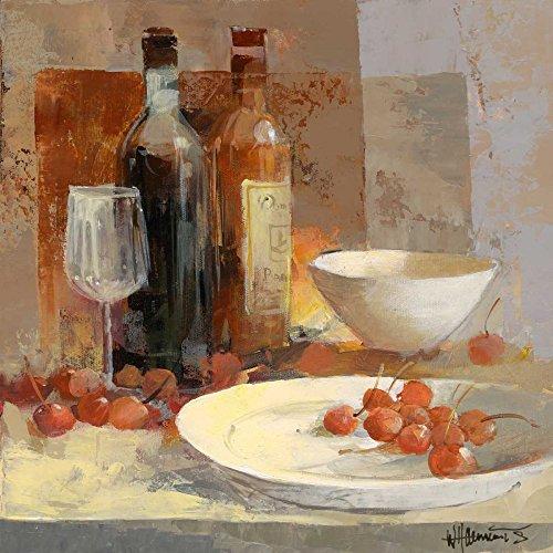 Feeling at Home LEINWANDDRUCKE-Bild-MIT-Rahmen.cm_61_X_61-Haenraets-Willem-europäisch-Kunstdruck-auf-Gerahmte-Leinwand-Wein-ital