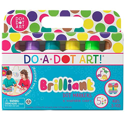 Price comparison product image Do A Dot Art! Markers Brilliant Washable 6 pack,  The Original Dot Marker